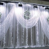 Wholesale Green Colored Led Strip - 2017 NEW Curtain Lights 1024 LED lights Bulbs 8m*4m,Waterproof Christmas ornament light,Flash Colored Fairy wedding lights Led strip MYY