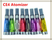 Non-Replaceable 1.6ml Plastic ego Atomizer CE4 Clearomizer Atomizer Vaporizer Cartomizer for ego electronic cigarette kits e Cigarette Long Wick 8 Colors DHL Fast Free