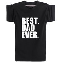 Wholesale Best Dad - Best Dad Ever T shirt Heart warm short sleeve Daily life tees Leisure punk clothing Elastic cotton Tshirt