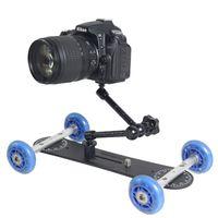 Wholesale Dolly Kit Skater Wheel Truck - Mini DSLR Truck Skater Wheel Table Compact Dolly Slider Kit for Canon Nikon Sony Panasonic Olympus DSLR Cameras