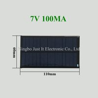 Wholesale smaller solar panels resale online - 100pcs Epoxy Resin Small Solar Panel V mA mm