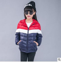Wholesale Boys Girls Winter Cashmere Coat - Children Down Coats Autumn Winter Big Boys and Girls Hooded Assorted Color Leisure Coats Kids Long Sleeve Zipper Fashion Outwears C1343