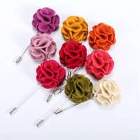 Wholesale Mixed Jewelry Brooches - BOYUTE 5Pcs Mix Colors Copper Flower Brooch Wholesale Fashion Jewelry Men Brooch for Wedding Jewelry & Accessories
