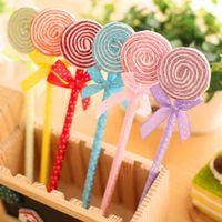ingrosso souvenir baby decorazione-24 Pz / lotto Cute Lollipop Penna a sfera Souvenir Festa di compleanno Baby Shower regalo Decorazione di buon compleanno