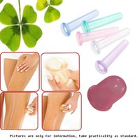 Wholesale Glass Cupping Massage - 5pcs househeld Anti Cellulite Vacuum Silicone Massage Cupping Cup Cupping Glass Cupping Device Colors Random