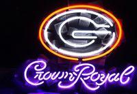 Wholesale Crown Royal Neon Lights - New Tat tire Neon Beer Sign Bar Sign Real Glass Neon Light Beer Sign ME 539-NCAA -Georgia Bulldogs Crown Royal 16x12