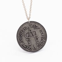 Wholesale Games Solitaires - Song of Ice and Fire Game of Thrones Coin Faceless Man Necklace Pendant Fashion Movie Jewelry Wholesale