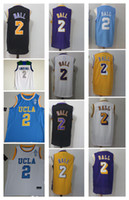 Wholesale New School - 2 Lonzo Ball Men Jersey 2018 New version Rev 30 Mens Ball ucla High school Basketball Jerseys Throwback Stitched
