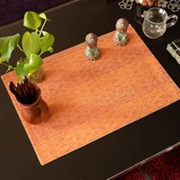 Wholesale Jacquard Fabric For Sale - Wholesale- Royal Jacquard Solid Fabric Placemats One Piece Sale Luxury Orange Place Mat Heat-Insulated Disc Pads For Dining Table