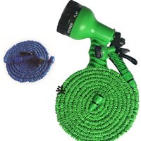 Wholesale Expandable Hose Sprayer - 3 Times Expandable Hose 25FT 50FT 75FTGarden Lawn Patio Watering Equipments Gun Flexible Hose Water Garden Pipe with 7 Kinds spray HH-T26