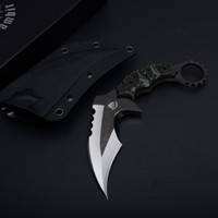 Wholesale karambit knives sale for sale - Hot Sale The One Manufacture Karambit Claw Knife Ds Satin Blade G10 Handle Outdoor Camping Hiking Survival Tacticak Knives