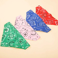 Wholesale Dog Bandana Collar L - Hipidog Pets Dogs Cats Cotton Adjustable Neckchief Neck Collar Dog Cute Triangular Bandana Saliva Towel Scarf Size S L