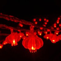 Wholesale Red Chinese String Lights - Wholesale- 10M Mini 100 LED Waterproof Chinese Red Lantern Lights String for Christmas wedding Home Party Countyard Outdoors Decoration