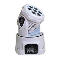 dj mix light venda por atacado-(20 pcs) rgbw branco levou mini luz em movimento da cabeça 7x12 w dmx cor da iluminação de iluminação de mistura de luz de lavagem para dj luz equipamentos