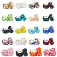 Wholesale 500pcs Mixed Micro Pave CZ Disco Ball Crystal Shamballa Bead Bracelet Necklace Beads DIY hot Stock