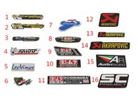 Wholesale Motorcycle Modified Decals - 4pcs lot Motorcycles modified aluminum Vinyl label exhaust pipe standard Viper Yoshimura Akrapovic FM TWPO  decals wholesale