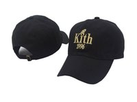 Wholesale Kith Hat - Wholesale- New 2017 Kith 1996 dad hat KITH Classic Logo cotton SNAPBACK baseball cap Ronnie Fieg caps casquette kanye west bear cap savage