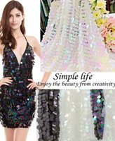 Wholesale utility beds resale online - 2017 fashion sequins beads fabric PCT large sequins beads and sequins fabric mesh hollow stereo flower floral lace