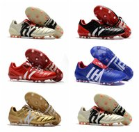 Wholesale Soft Black Leather Boots - Original Predator Mania Champagne FG mens Football Boots 2017 Champagne FG Soccer Shoes High Quality cheap Soccer Cleats Black Gold red Hot