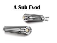 Wholesale Electronic Cigarette Led Starter Kit - A SUB EVOD Starter Kit Vaporizer Electronic Cigarettes Vape Pen LED Ecig Mult Colors 1100mAh Battery