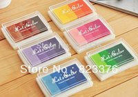 Wholesale Ink Pads For Stamps - DHL Free shipping 200pcs ink pad color gradual change inkpad for stamp