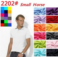 Wholesale Camisa American Shirts - Top sale S~6XL Man's Solid Polo Shirts Camisa Polo embroidery small Horse Polo Shirts man polyester Men Short Sleeve Casual Shirts 0747-4