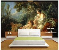 Wholesale High End Oil Painting - High end Custom 3d photo wallpaper murals wall paper HD classical beauty nude oil painting living room wallpaper background wall home decor