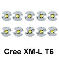 Wholesale High Power Led Flashlight Bulbs - CREE XM-L T6 LED Chip High Power 10W CREE T6 LED Bead Emitter with 16MM heatsink LED Flashlight light Bulb Chip Diode