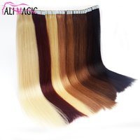 Wholesale skin weft adhesive - Tape In Human Hair Extensions Skin Weft Tape Hair Extensions 100g Brazilian Hair Hablonde Double Sides Adhesive Cheap Free Shipping