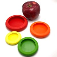Wholesale 4pcs Food Fruit Hugger Four Sizes Silicone Caps Keep Fruit Fresh Food Storge Food Saver Vegetable PreservationTools
