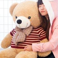 детские игрушки для мальчиков оптовых-Горячий новый Teddy Bear Lovers Big Bear Arms Чучела Животных Игрушки Плюшевые Куклы Валентина подарок Рождественский подарок