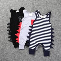 Wholesale Toddler Romper Pants - Ins Baby Romper 2017 Summer Dinosaur Rompers Boy's Animal Jumpsuit Harem Pants Toddler Infant Outwear baby Clothes K043