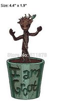 """Wholesale Galaxy Tv - 4.4"""" Guardians of the Galaxy Baby Groot Marvel Comics TV Movie Uniform iron on patch applique badge emblem party favor gift"""