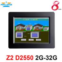 china dual intel achat en gros de-Partaker 8 pouce Elite Z2 fabriqué en Chine ordinateur à écran tactile résistif à 4 fils avec processeur Intel Atom D2550 double cœur 1.86Ghz