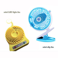 Mini Protable LED Light Fan et Clip Stand Table 360 ​​degrés Rotation Fan Ventilateur Ventalation Gadgets Avec multifonctionnel USB Rechargerable