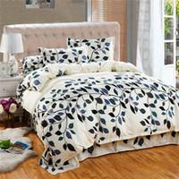 Wholesale Wholesale King Bedding Sets - Bedding Set Cotton Cover Bed Sheet Duvet Cover Sets Comforter Farmhouse Style Bedding Sets Housse De Couette 4pcs set stripe