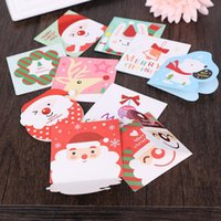 Wholesale Mini Postcards - (160 Pieces  Lot )Creative Merry Christmas Small Greeting Cards Kids Mini Christmas Greeting Cards New Year Postcard Gift Card