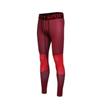 Wholesale tight red trousers - 2017 New Sport Pants Men red Camo Tights Leggings Crossfit Trousers