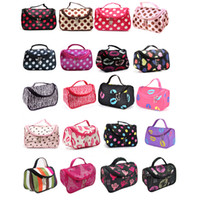 Wholesale wholesale pvc free makeup bags - Discount Hot Sale 20 Colors Cheap Zipper Makeup Clutch Women's Travel Cosmetic Bag DHL Free Shipping Wholesale