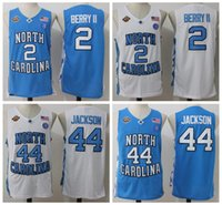 Wholesale Heels 44 - North Carolina Tar Heels Final Four Phoenix 2017 Championship 2 Joel Berry II 44 Justin Jackson College Basketball Jerseys White Blue
