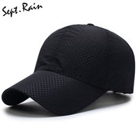 Wholesale Dry Bones Hat - Wholesale- [Sept.Rain] Men Women 2017 Summer Snapback Quick Dry Mesh Baseball Cap Sun Hat Bone Breathable Hats
