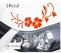 Wholesale Grace Stickers - Reflective Car Stickers grace flower Waterproof Decal Sticker cover anti scratch for car body Light brow front back