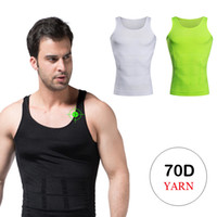 Wholesale Purple Belly Bag - Sexy Slimming Shirt For Men Elimination Of Male Beer Belly Vest 150pcs Lot Opp Bag Package