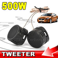 Vente en gros - 2016 Hot Sale Professional 2 pcs Mini Portable 500W High Efficiency Super Power Haut-parleur haut-parleur Tweeter pour voiture noir