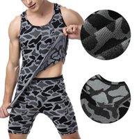 Wholesale Tight Leopard Shirt - Wholesale- Compression Men Sleeveless Tight Shirts Base Layer Leopard Top