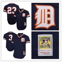 Wholesale Alan Trammell Jersey - 1984 Men's Retro Detroit Tigers #23 Kirk Gibson Jersey #3 Alan Trammell Jersey 100% Stitched Mesh Baseball Jersey