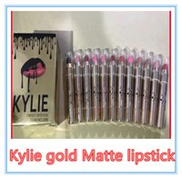 Kylie glod rouge à lèvres maquillage brillant or brillant crayon à lèvres mat 12 couleur VS Kylie jenner Lip Kit Kylie Bronze