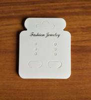 ingrosso carte da mostra dell'imballaggio dell'orecchino dei monili-200pcs bianco carta di imballaggio di gioielli fai da te appendere orecchino appeso carta di alta qualità carta display cartellini