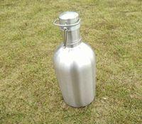 Wholesale pressure direct - Hot sell swinging big stainless steel beer bottle 1L and 2L creative strange pressure seal beer barrel