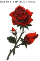 Rose Red Love giardinaggio Valentino Fiore TV FILM Serie EMBROIDERED uniforme punk rockabilly ferro costume applique sulla zona favore di partito